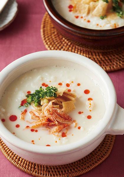 台湾風豆乳のお粥