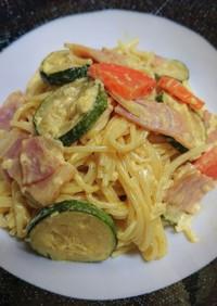 ズッキーニのサラスパサラダ☆カレー風味