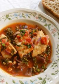 白身魚のトマト煮