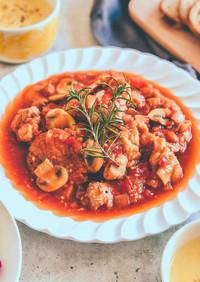 61℃ 栄養価◎鶏もも肉のトマト煮