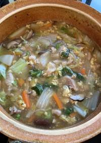 白菜ときのこ、五目中華風鍋