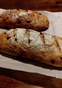 ミックスナッツのオイル漬けでライ麦パン