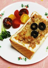 クリチとツナの醤油麹トースト