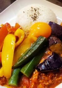 野菜盛り沢山のキーマカレー