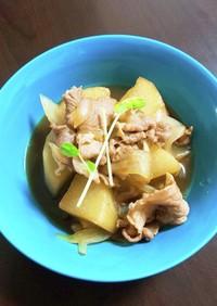 味付け簡単☆豚肉と大根のすき焼き煮