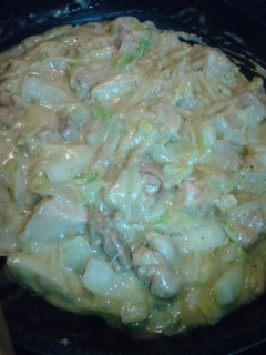 白菜とチキンのクリーム煮