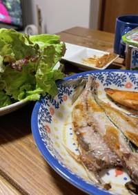 ダイエットレシピ♪焼魚のサニーレタス巻