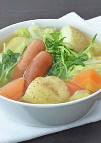 豆苗と春野菜のポトフ