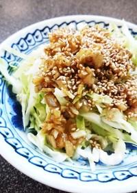 ダイエット☆ゴボウとキャベツのサラダ