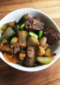 牛肉と玉ねぎの台湾風炒め