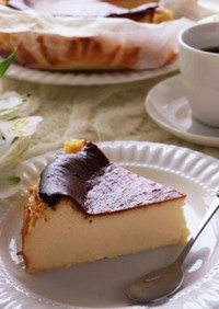 18cm型のバスク風チーズケーキ