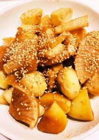 大根とジャガイモの煮物
