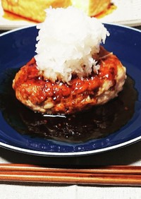 蓮根と豚ひき肉のジューシーハンバーグ