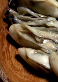 牡蠣のガーリック酒蒸し