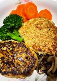 豆腐とレンコンのハンバーグ