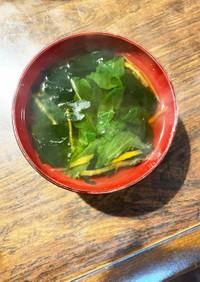 減塩醤油のレタスワカメスープ
