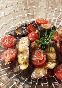 かんたん酢で茄子とトマトの和風マリネ