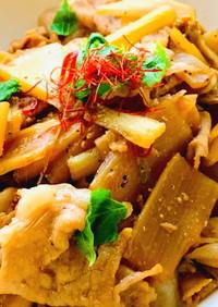 ウドの美味しい食べ方♡豚肉とウドの甘辛煮