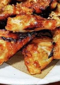 銀鮭アラのニンニク味噌焼き。