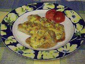 白身魚のパルミジャーノ焼き de Tanto!