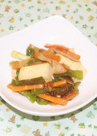 豆腐と椎茸の中華あんかけ