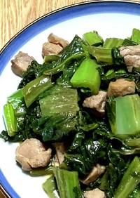 生の高菜と鶏肉の炒め煮