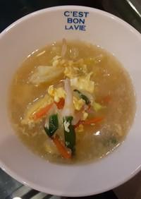 野菜たっぷりのダシダスープ