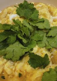 春雨と卵のパクチースープ