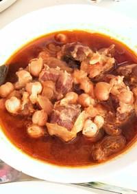 ひよこ豆と牛すね肉のトルコ風トマトスープ