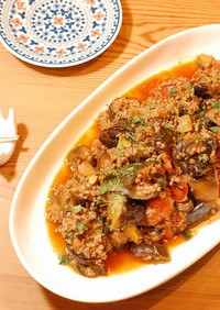 とろける~♡茄子とひき肉のトマト煮