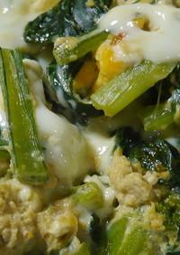 時短の小松菜の卵とじ