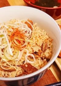 ズボラ飯☆サンマの蒲焼de炊き込みご飯