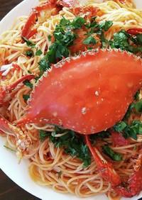 ワタリガニのトマトパスタ
