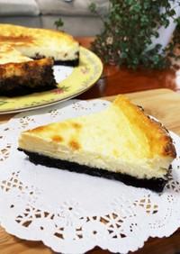 しっとりなめらか♡オレオチーズケーキ