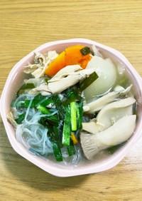 チキン丸ごと圧力鍋で春雨スープ