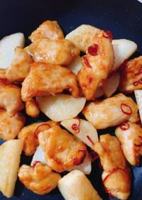ムネ肉と長芋の甘辛炒め