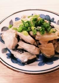 鶏むね肉となすのポン酢マヨ炒め