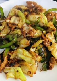 豚と野菜の白味噌炒め
