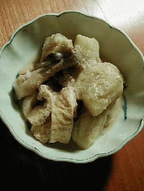 茄子と油揚げの胡麻味噌煮