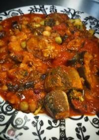 サバ缶とレンズ豆のトマト煮(*≧∀≦*)