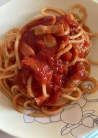 トマトパスタ(トマト缶で)