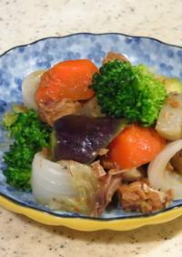 低コレステロール@さば味噌煮缶で野菜炒め