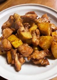 鶏モモ肉とジャガイモの揚げ煮