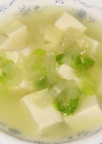 とろとろ白菜の豆腐鶏がらスープ