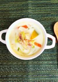 簡単 白菜と野菜たっぷりミルクスープ