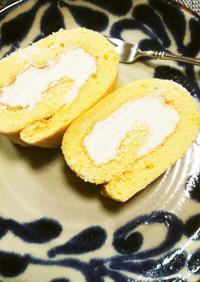 生クリームたっぷりの米粉ロールケーキ