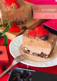 オーブン不要♡チョコレートムースのケーキ