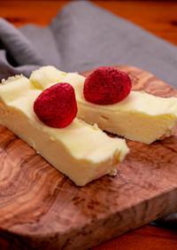 レンジで3分30秒!濃厚チーズケーキ