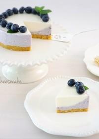 簡単♡ブルーベリー豆腐レアチーズケーキ