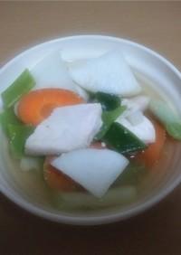 鶏肉とダイコンandネギの和風スープ!!